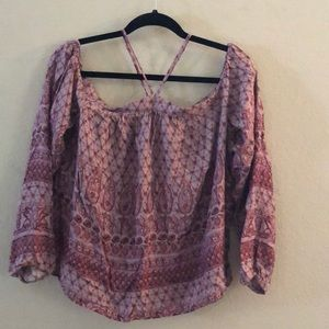 Paisley and floral pattern blouse